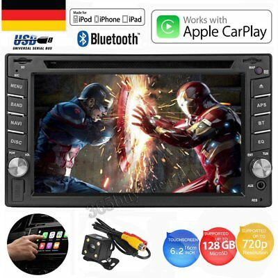 6.2'' Autoradio 2DIN USB BLUETOOTH Apple CarPlay APP Autoradio DVD CD Player DHL