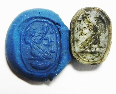 ZURQIEH - as3479- ANCIENT EGYPT. STONE SCARAB . NEW KINGDOM. 1400 B.C