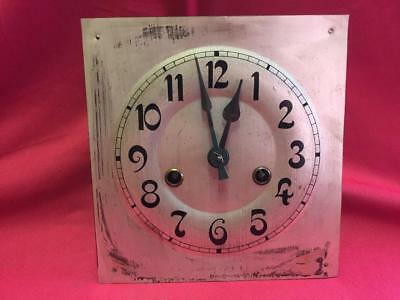 Vintage Clock Face, Hands & Hac Crossed Arrows Movement For Spares Or Repair