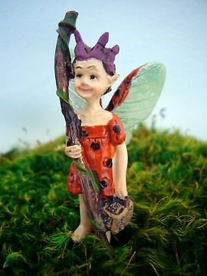 Ladybug Swamp Fairy GO 17680 Miniature Fairy Garden