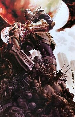 ERIC CANETE rare THANOS print SIGNED limited MARVEL Infinity War NEW Last TWO!!