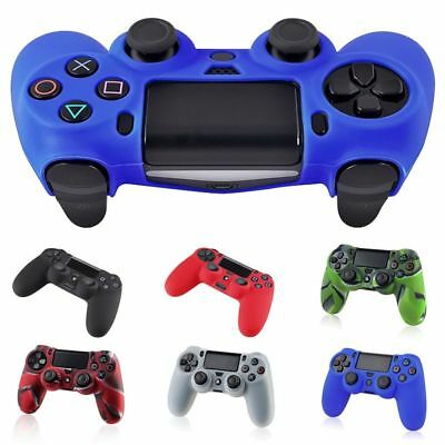 2 Silicone Rubber Soft Case Gel Skin Cover For Sony PlayStation 4 PS4 Controller