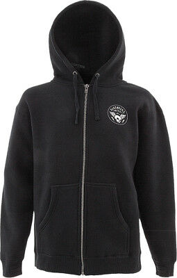 Slednecks Snowmobile Warriors Heavyweight Zip-Up Hoodie Black Men Size M-2XL
