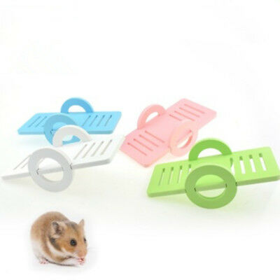 Small Animal Hamster Toys Wooden Seesaw Swing House Parrot Harness Grind Teeth