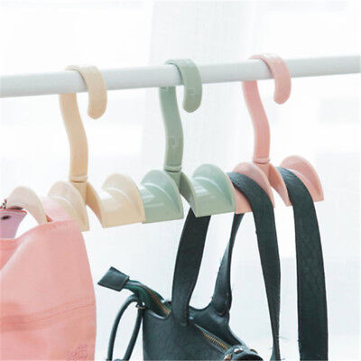 Closet Organizer Rod Hanger Handbag Storage Purse Hanging Rack Holder Hook Bag