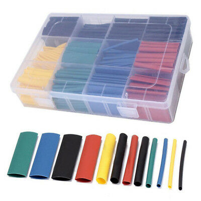 Wire Wrap 530pc 8 Sizes Assortment  2:1 Heat Shrink Tube Electrical Sleeving Kit