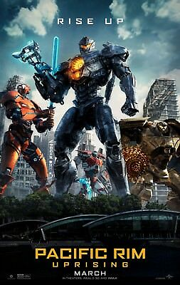"PACIFIC RIM UPRISING 2018 Original Version C DS 2 Sided 27x40"" US Movie Poster"