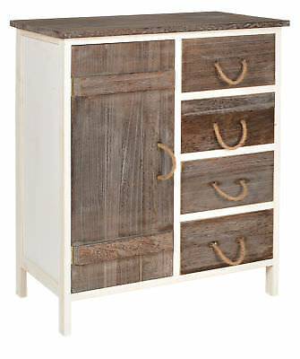 Landhaus Kommode Flur Bad Schrank Bi-Color Regal in zwei Farbtönen NEU