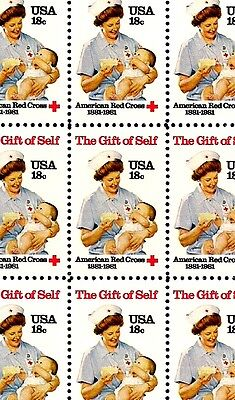 1981 - AMERICAN RED CROSS - #1910 Full Mint -MNH- Sheet of 50 Postage Stamps