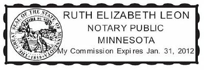 State Of Oklahoma Custom Rectangle Self Inking Notary Seal