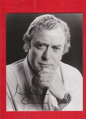 Film Star-  autograph, Michael Caine, signed photograph.