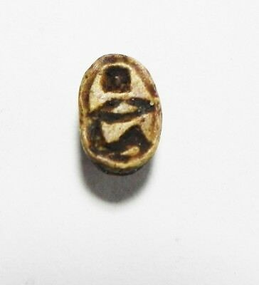 Zurqieh -As3493- Ancient Egypt, Glazed Stone Scarab . New Kingdom. 1400 B.c