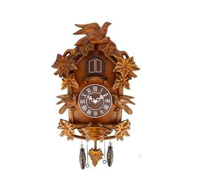 NEW Large Cuckoo Clock Traditional Design on Wooden Case By Widdop