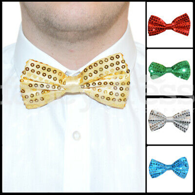 b4fbf033b5a9 Bow Tie Sequin Sparkly Dickie Dicky Christmas Xmas Fancy Dress Party  Accessory