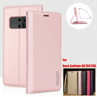 MUXMA CANVAS PU Leather Wallet Flip Case Cover for ASUS Zenfone AR
