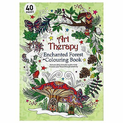 Art Therapy ENCHANTED FOREST Adult Colouring Book Creative Anti Stress Mandalas