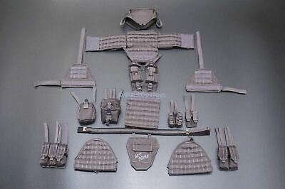 1/6 Scale ZERT AMG Sully Complete Wolf Grey Plate Carrier Vest and Belt Set