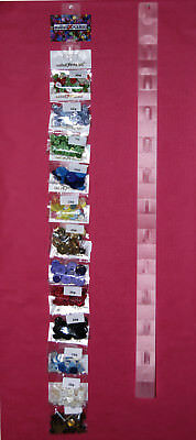 Hanging Clip Strips - 12 Positions - Merchandise Display - 2 Lengths - Hang Tabs