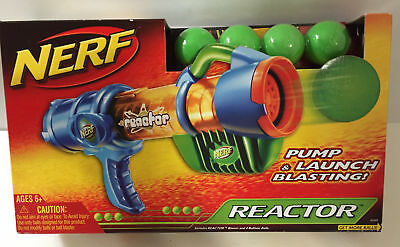 Nerf Reactor Blaster ~ Pump & Launch Blasting Toy Gun ~ NEW + FREE US SHIPPING