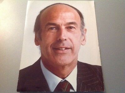 VALÉRY GISCARD D'ESTAING - PHOTO DE PRESSE ORIGINALE 21x27