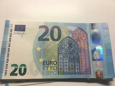 20 EURO banknote EUROPE PAPER BANK REAL MONEY UNC condition
