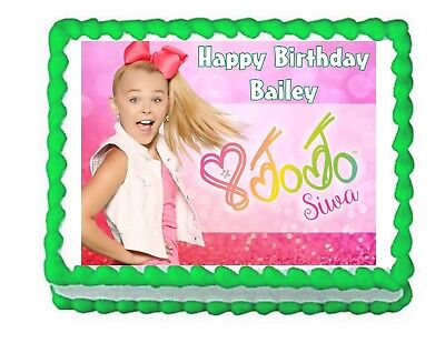 JoJo Siwa Party Edible Cake Image Topper Frosting Sheet Decoration