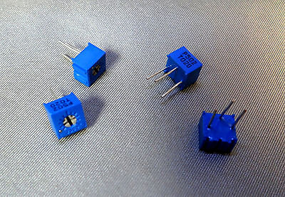 """5000 Ohm / 5K (502) Variable Resistor (Trimmer Pot)  0.1"""" centers  - QTY 4"""