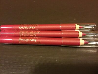 3x Estee Lauder Double Wear Stay in Place Lip Pencil 02 Fuchsia-Travel .02 oz ea