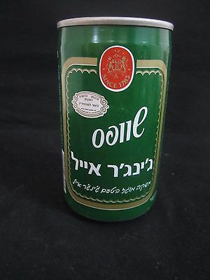 Schweppes  ginger ale   : a 330 ml  empty  can, israel , late 80's.