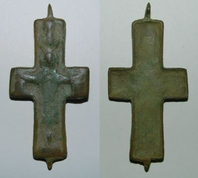 LARGE BYZANTINE BRONZE RELIQUARY CROSS (Front Plate)  9th-12th Century A.D.