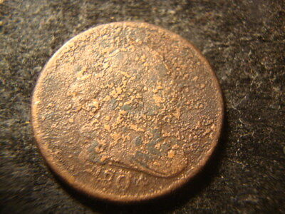 1804 Readable Date Draped Bust Half Cent Decent Dated  Coin