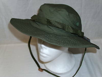 NEW - Ripstop GI Army Military BOONIE Jungle HAT 7 ½ - OD GREEN OLIVE DRAB