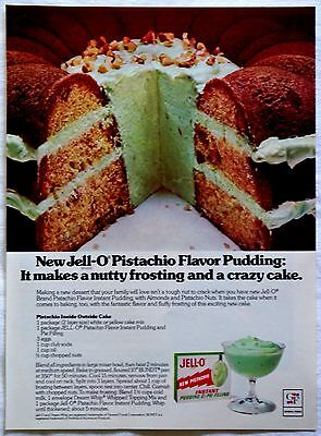 1976 Jell-O New Pistachio Instant Pudding Pie Filling Magazine Print Ad Tear Out