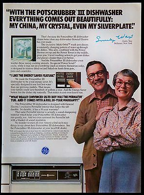 Vintage 1979 GE General Electric Potscrubber III Dishwasher Magazine Ad