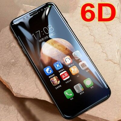 6D Curved Full Cover Tempered Glass Screen Protector Film For iPhone X 6 7 8+ bw