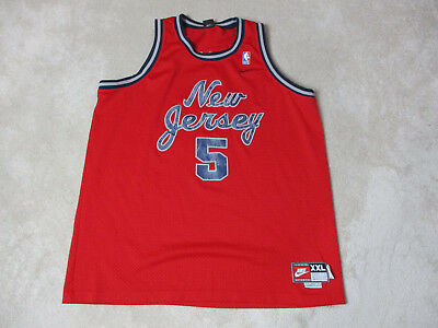 buy online f081b 93f60 NIKE JASON KIDD New Jersey Nets Basketball Jersey Adult 2XL XXL Red NBA  SEWN Men