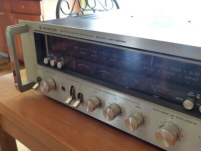 Kenwood KR-9600 Silver Face Top of the line Flagship  AM/FM Stereo Receiver-Nice