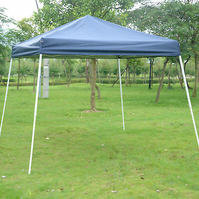 Outsunny 10x10ft Easy Pop-up Canopy Party Tent Sunshade Shelter w/Slant Leg Blue
