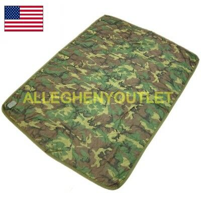 US Military Woodland Camo Poncho Liner WOOBIE Blanket VERY GOOD CONDITION