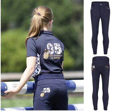 Busse Kids Collection VII Kid/'s Riding Pants Grip Knee Silicone Breeches Navy