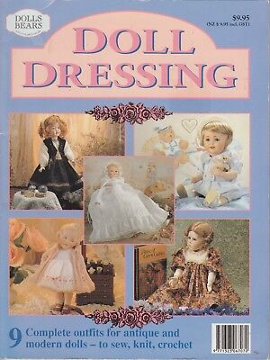 Doll Dressing - 9 Complete Outfits -Patterns Included