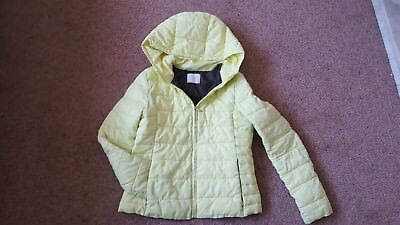 Zara girls winter outerwear age 11-12 lime puffa