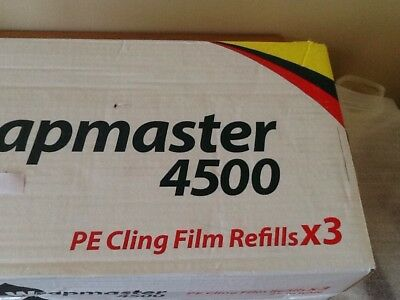 "3 X 18"" CLING FILM REFILLS for Wrapmaster 4500 - 45CM X 300M"