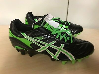 Asics Gel Lethal Tigreor IT FG Rugby Boots Uk 9 rrp £130 Black/Green
