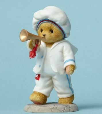 Cherished Teddies USA Hip Hip Hooray Bear with Trumpet 4th of July Figurine