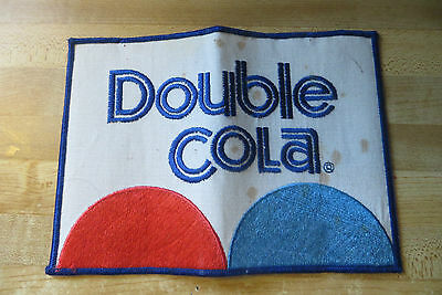 Original huge soda pop advertising Double Cola large co.Jacket large patch
