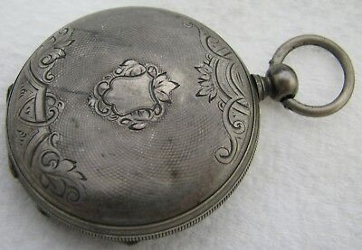 Antique Swiss Key Wind .800 Silver Pocket Watch Parts Repair