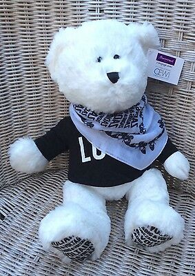 Superbe Zadig & Voltaire Ours blanc peluche collector 2016 Marionnaud NEUF
