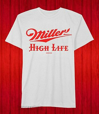 d8f25b04b3 New Miller High Life Classic Label Logo Brewing Beer Mens Vintage T-Shirt