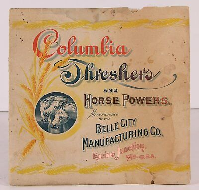 1900 Belle City Horse Drawn Farm Machinery Catalog With Chromolithograph Covers